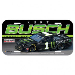 #1 Kurt Busch Monster Energy Plastic License Plate - kurtbusch