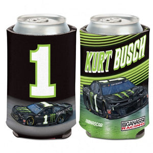 #1 Kurt Busch 12 oz. Monster Energy Can Cooler - kurtbusch