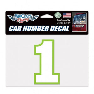 #1 Kurt Busch Car Number Decal - kurtbusch