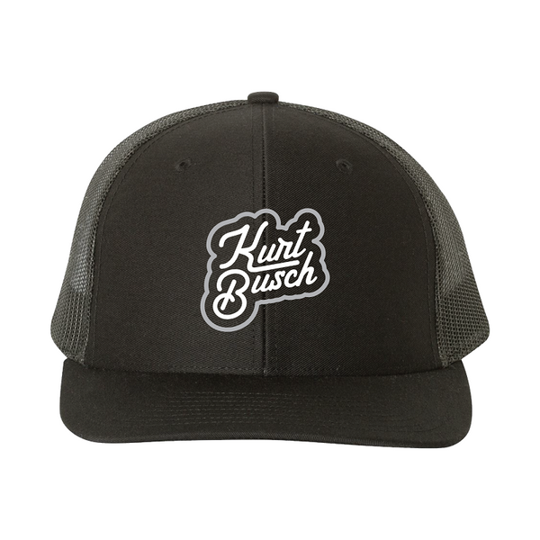 NEW! Kurt Busch Lifestyle Trucker Hat Black