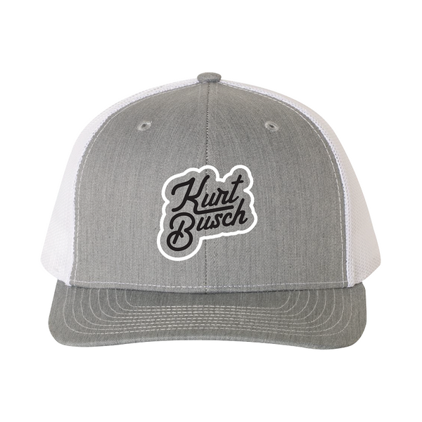 New! Kurt Busch Lifestyle Trucker Hat Gray