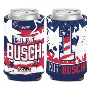 #1 Kurt Busch Patriotic 12 oz. Can Cooler - kurtbusch