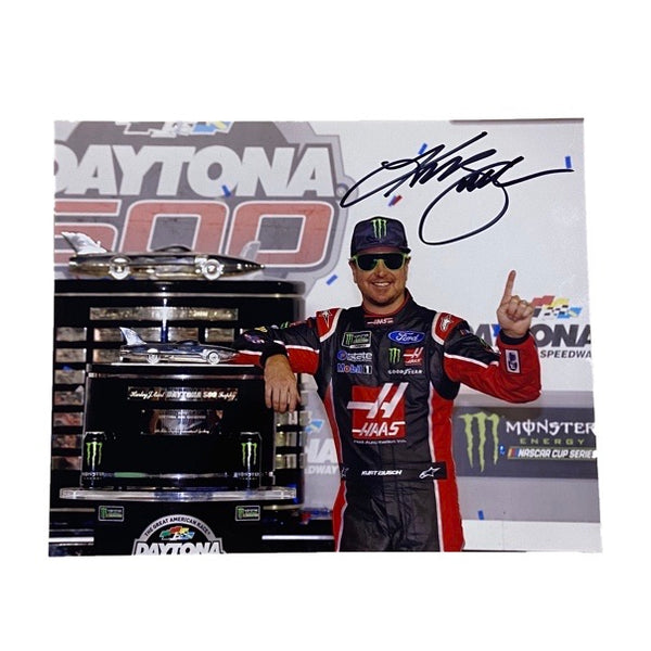 Autographed Kurt Busch Daytona 500 Victory Lane Authentic Photo - kurtbusch