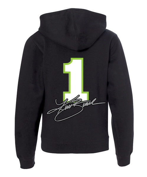 #1 Kurt Busch KB Black Youth Hoodie - kurtbusch
