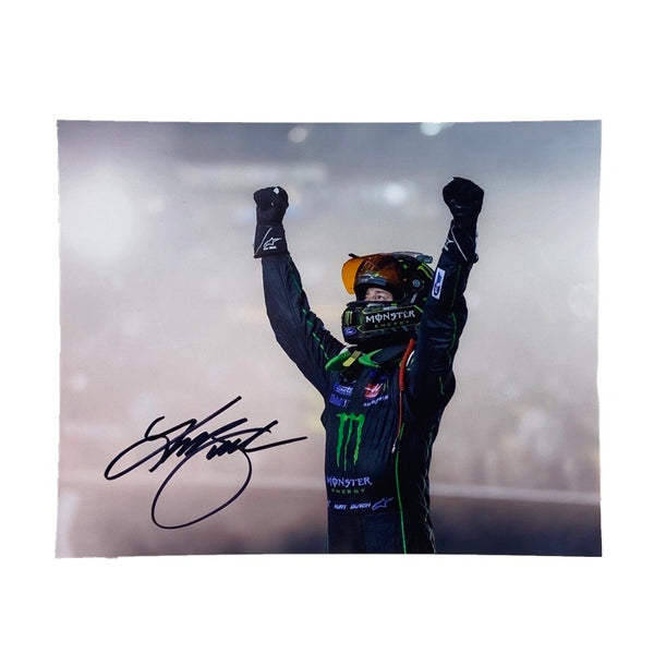 Autographed Kurt Busch Bristol Win Authentic Photo - kurtbusch