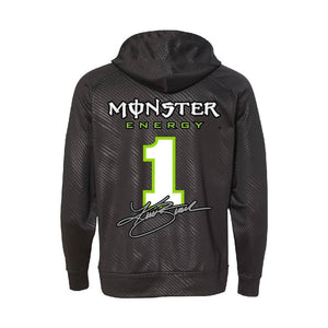Kurt Busch #1 Monster Energy Black Hooded Sweatshirt (Only Small Left) - kurtbusch