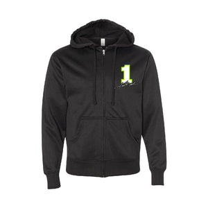 Kurt Busch #1 Black Zip-Up Sweater - kurtbusch