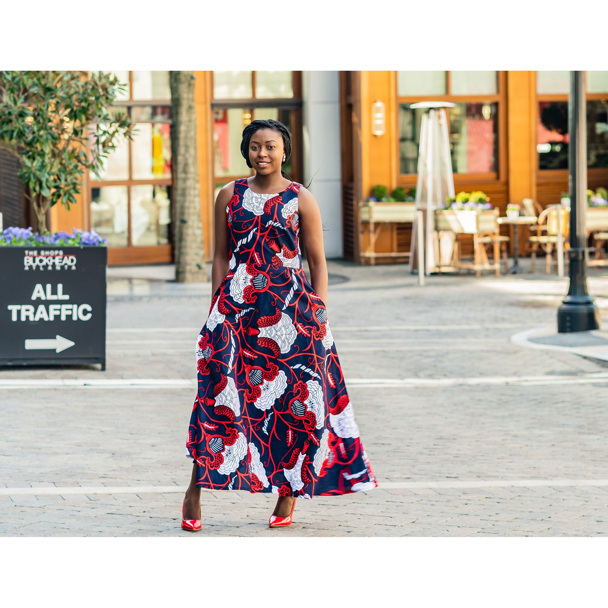 Stylish African Print Maxi Dress