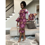 African print Cynthia off-shoulder midi dress