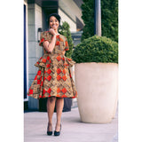 Stylishly Bold African Print Dress