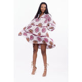African Print Muriel Shirt dress