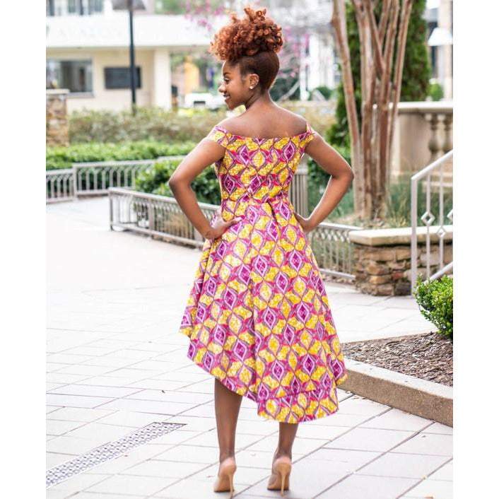 Exquisite Pageant African Print  Dress