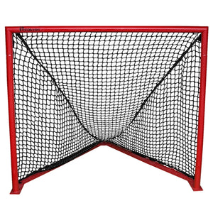 7mm 4ft x 4ft 6 inch Deluxe Box Lacrosse Replacement Net Black - Predator Sports