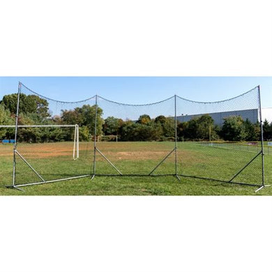 Barrier Flex Backstop with 3mm Black Poly Netting 10'x30' - Predator Sports