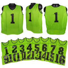 Load image into Gallery viewer, Two Tone Adult Athletic Scrimmage Vests Numbered 1-16 - Predator Sports