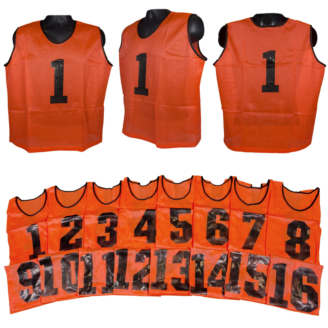 Two Tone Adult Athletic Scrimmage Vests Numbered 1-16 - Predator Sports