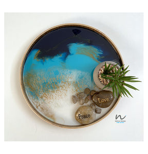 Resin Wooden Tray (23cm) - neerjatrehan.com
