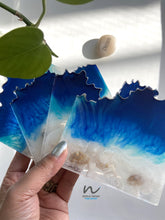 Load image into Gallery viewer, Beachy Resin Coasters (set of 4) - neerjatrehan.com