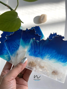 Beachy Resin Coasters (set of 4) - neerjatrehan.com