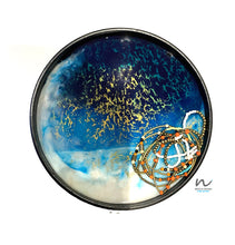 Load image into Gallery viewer, Round Wooden Resin Tray (20.5cm) - neerjatrehan.com