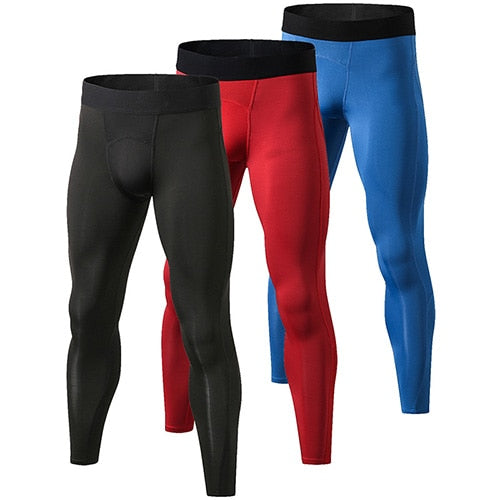 3pcs Compression Pants Gym Bodybuilding Sport Trousers Fitness Tight Sportswear  Leggings