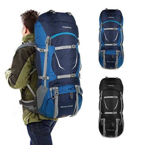 Backpack Outdoor Sport Bag Waterproof Climbing Hiking Travel with Rain Cover Mountaineering