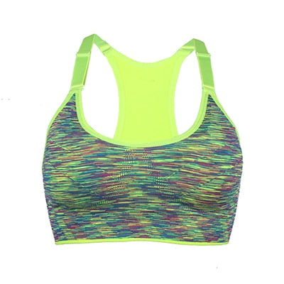 Female Fitness Yoga Sports Bra for Running Gym Straps Padded Quick Dry