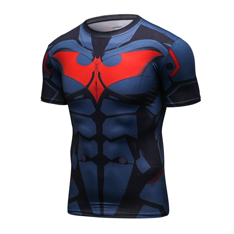Men  Cosplay Costume Clothing Tops short Sleeve Basketball Jogging gym sport Yoga