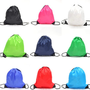 Premium School Drawstring Duffle Sport Bag Gym Swim Dance Shoe Backpack