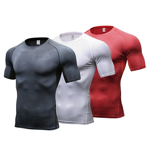 Fitness Tight Gym Sports Suit Costume Vest Soccer Jerseys Rashgard Man Short T-Shirts Top
