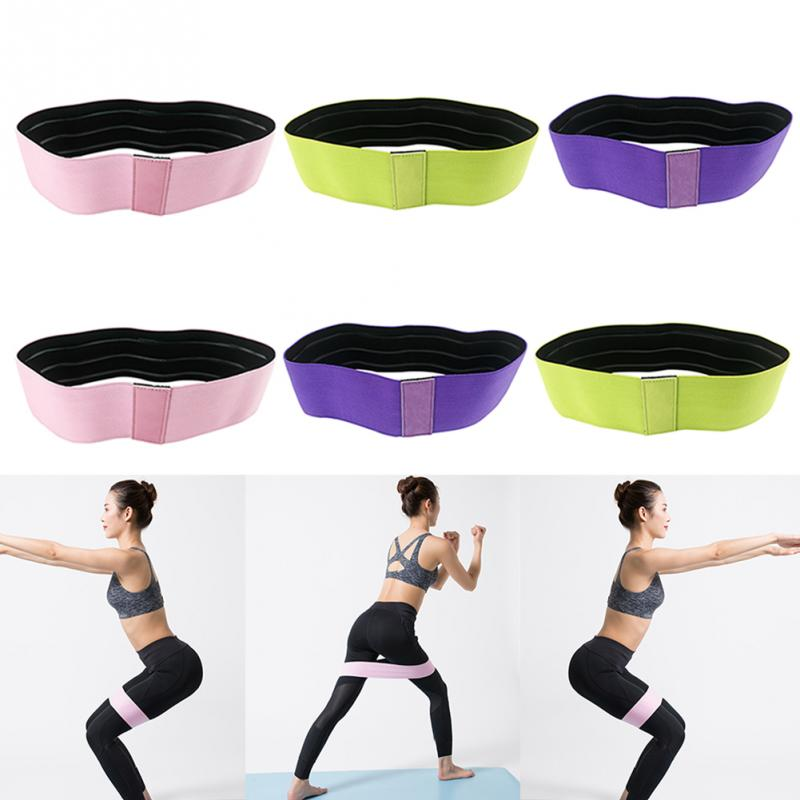 Hip Circle Band Gym Fitness Rubber Elastic Lifting Resistance Anti-slip