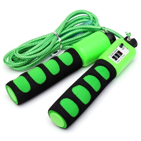 Cotton Counting Jump Rope with Soft Sponge Anti Skid Handle for Sports