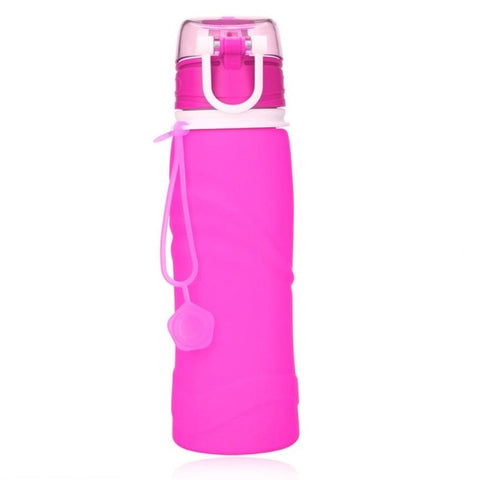 Outdoor Hiking Silicone Collapsible Drink Kettle Silicone Foldable Sports Bottle