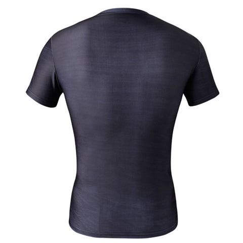Men  Tops For Fitness Body Building Clothing  short Sleeve Basketball Jersey Jogging gym sport Yoga