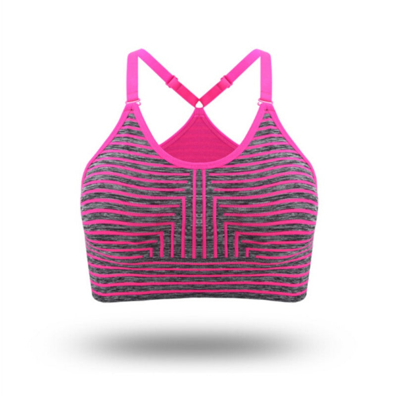 Woman's Pro Padded Compression Strap Printed Sports Bra