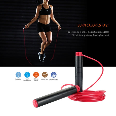 Waterproof Portable Wireless Skipping Bluetooth Smart Jump Rope with APP