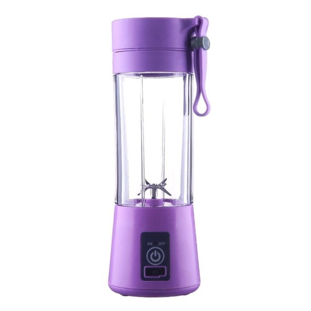 Mini USB Rechargeable Portable Electric Fruit Juicer Smoothie Maker Blender Machine Sports Bottle