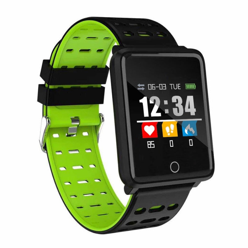 Waterproof Smart Heart Rate Monitor Bracelet for Android Sleep Fitness Tracker Blood Pressure