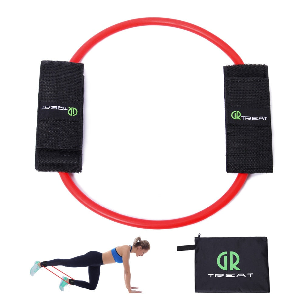Leg Resistance Band Exercise with Padded Ankle Cuffs and Butt Workouts Muscle