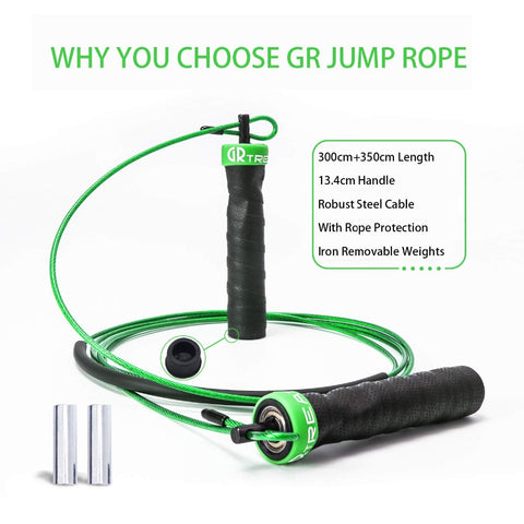 Jump Rope Crossfit Weighted Speed Skipping With Load block For Fitness Exercise