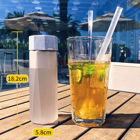 Portable Plastic Water Bottles Frosted Space  for Polygon Outdoor Sports Travel Camping