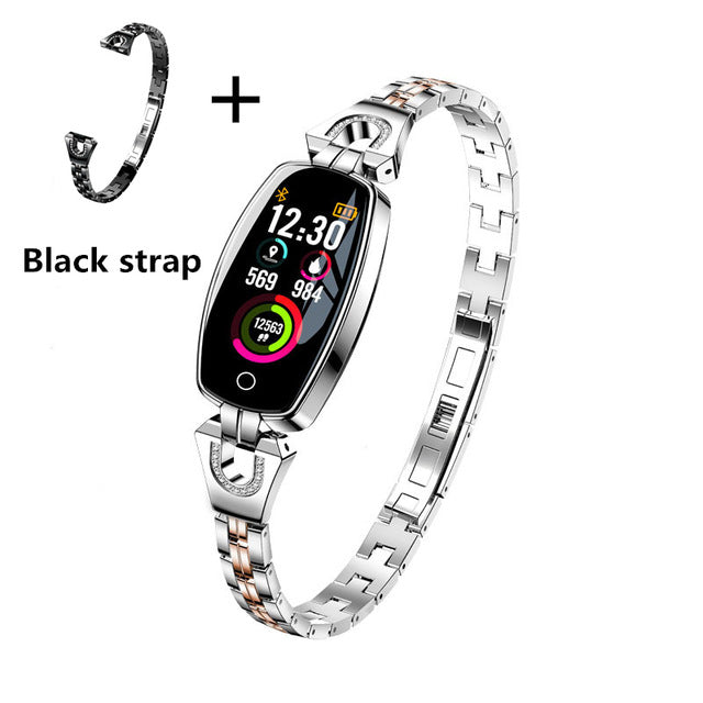 Women Heart Rate Bracelets Blood Pressure measurement Fitness Tracker electronic smart Band