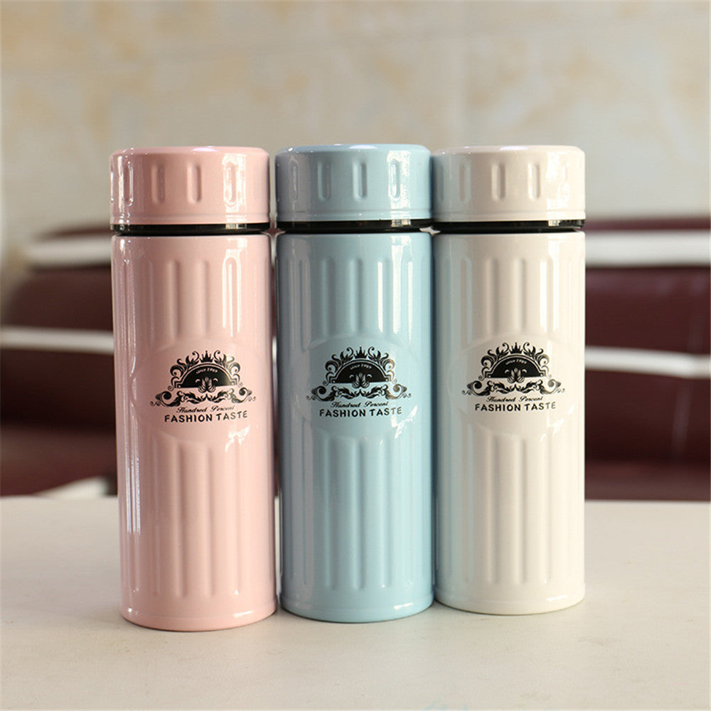 Sports Water Bottle Men And Women Steel Pattern Bubble  Portable Stainless High Quality