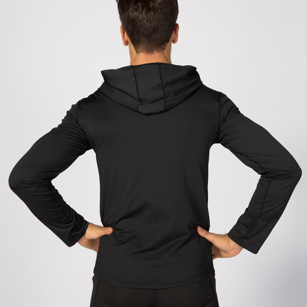 Man Workout Fitness Sports Running Athletic Shirt Top tight-fitting training running long-sleeved
