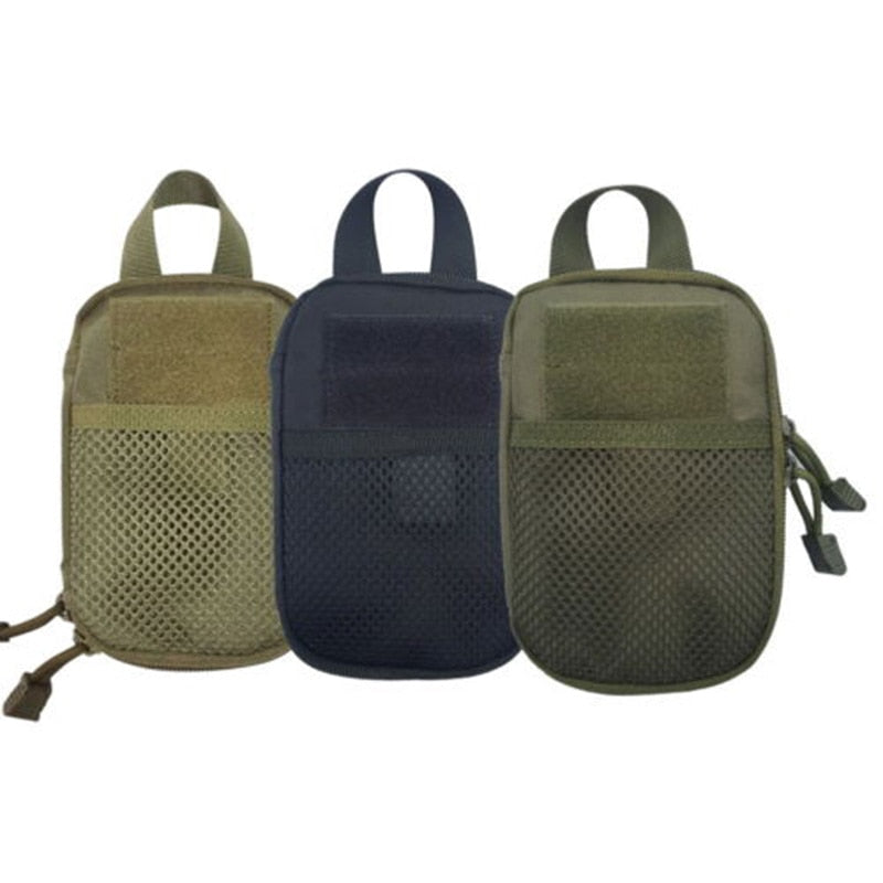Nylon Tactical Sport Bag Outdoor Military Waist Fanny Pack Mobile Phone Case Key Mini Tools Pouch
