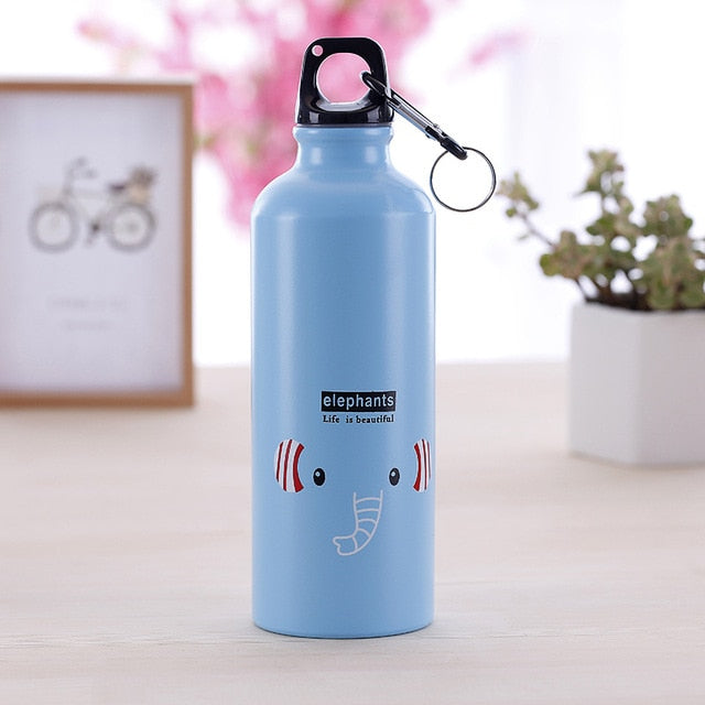 Modern Design Lovely Animals  Metal Water Bottle Outdoor Portable Sports Cycling Camping