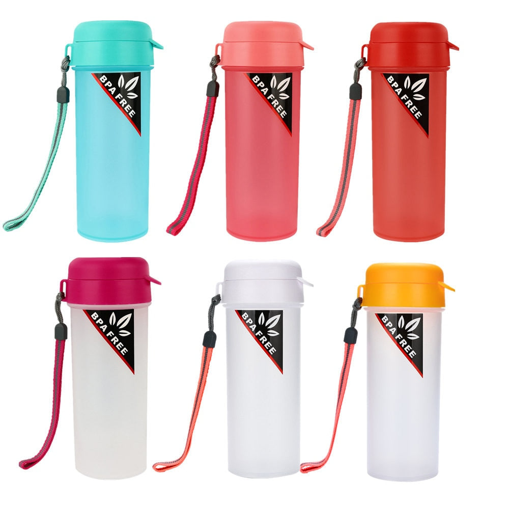 Creative solid color drinking water portable bottle outdoor travel  high temperature