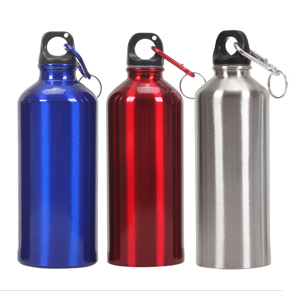 New Aluminum Water Bottles Outdoor Sports Travel Climbing Hiking