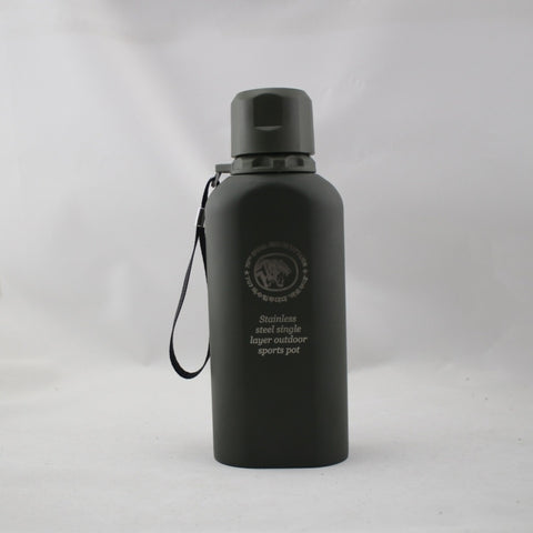 Lightweight Stainless Steel Flask Leak-proof Military Kettle Single layer vacuum insulation Sports Water Bottle