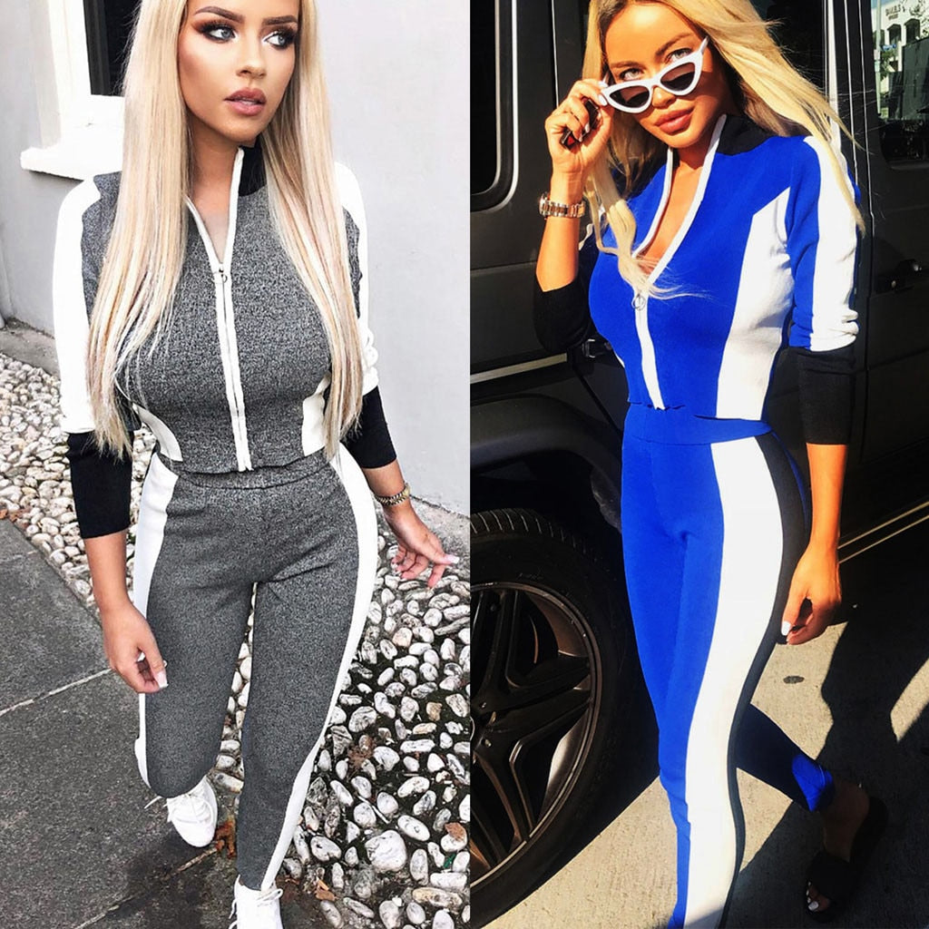 Casual Women Athletic 2 Piece Suit Sport Wear